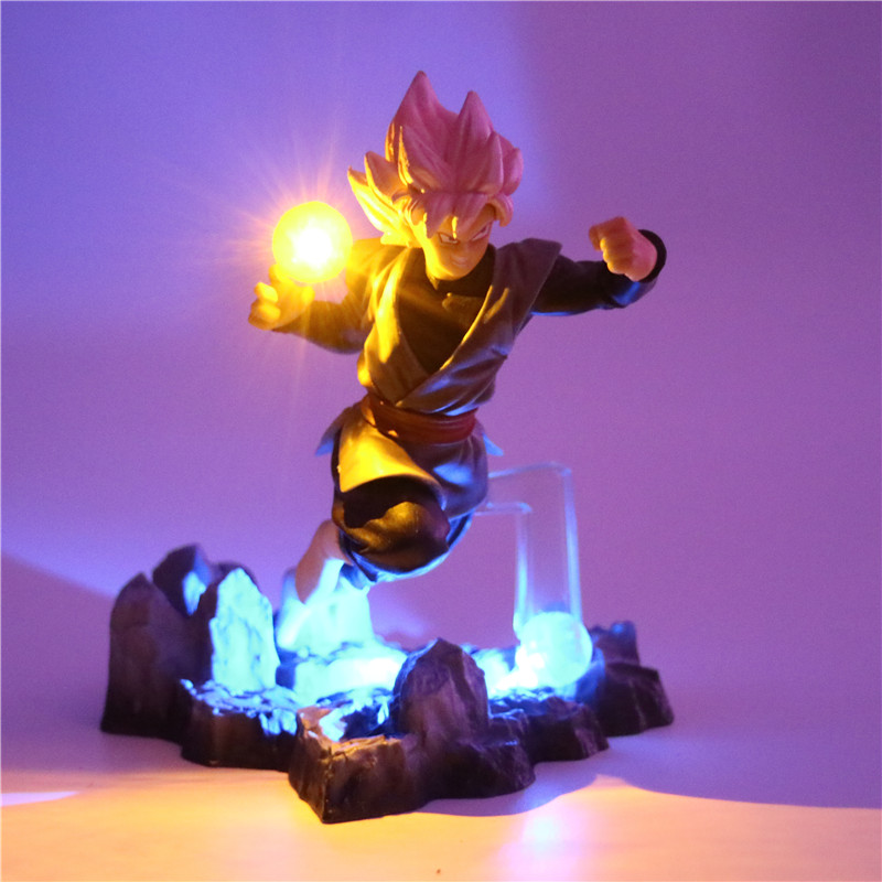 Dragon Ball Z Son Goku Action Figures Lamp DIY Anime Model Table Lamp Baby Dolls 2 Color LED Night Light for Kids Toy Decor Lamp