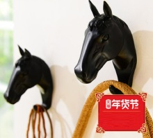 1PCS Horse Animal Decorative Hook Creative Resin Model Bathroom Wall Coat Hanging