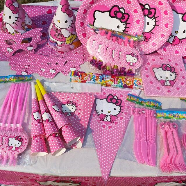 Aliexpresscom Buy Kawaii Hello Kitty Whole Set Birthday Party
