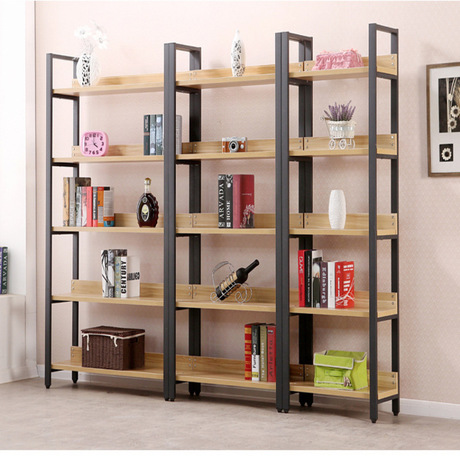 Bookcases Living Room Furniture Home Furniture Panel +steel Five Layer  Bookcase With Cabinet Bookshelf Whole Sale 120*30*182cm