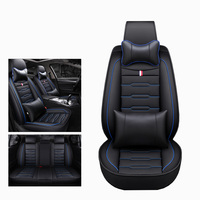 Front+Reat Cartoon Leather universal car seat cover for Honda accord 7 8 9 civic CRV CR V 2017 2016 2015 2014 2013 2012 2011auto