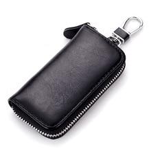 Fashion Echtes Leder Autoschlüssel Brieftaschen Männlichen Schlüsselhalter Schlüssel veranstalter Frauen Keychain Abdeckungs Reißverschluss Schlüssel Tasche Tasche Geldbörse 006