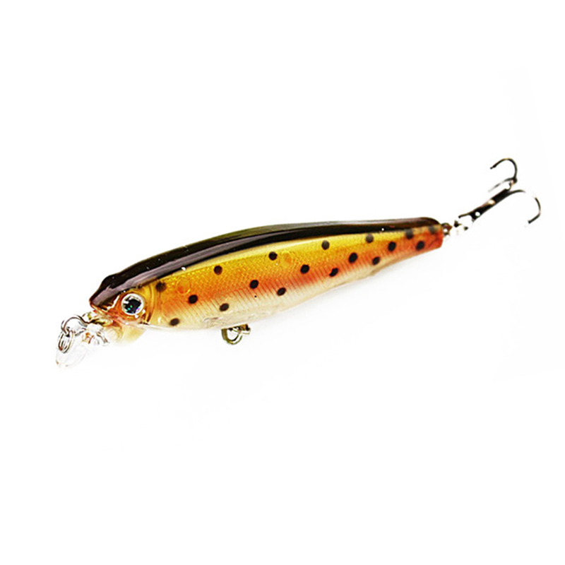 1PCS 8CM 7.5G Minnow Fiske Lure Lot Fiske Lures Artificiellt Hard Fishing Bait Sinking Trout Bait