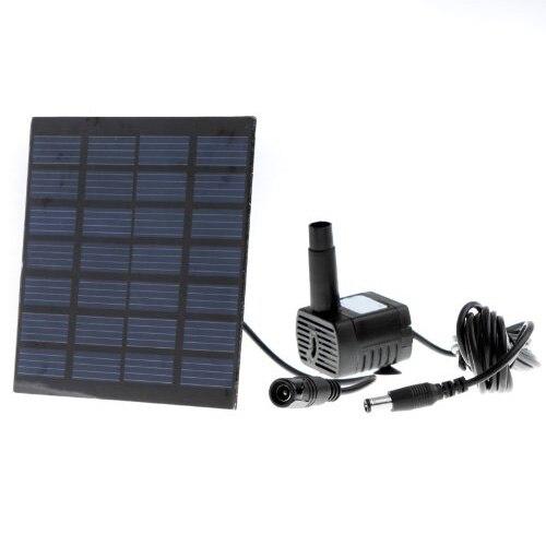 Brushless DC Solar Water Pump Power Panel Kit Fountain Pool Garden Watering Pumb