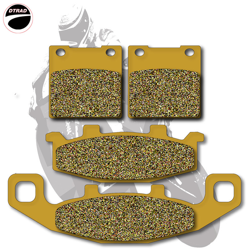Motorcycle Brake Pads Front+Rear For SUZUKI  GSF 250 92-96 GSX 250 90-98 GSF 400 91-95 GS 500 89-95