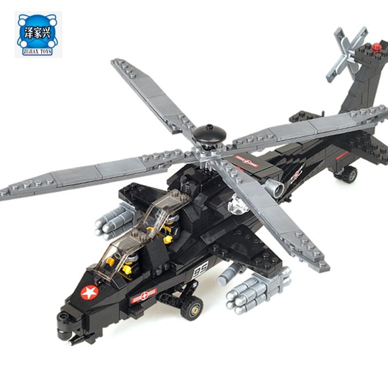 KAZI 98405 WZ-10 Military Helicopter Blocks 480pcs Bricks Building Blocks Sets Education Toys for Children 8 in 1 military ship building blocks toys for boys