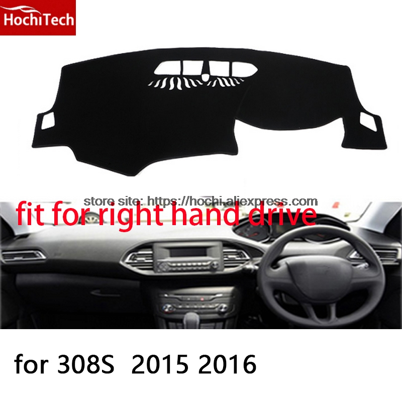 For Peugeot 307 308 308s right hand drive dashboard mat Protective pad black car styling Interior Refit Sticker Mat products
