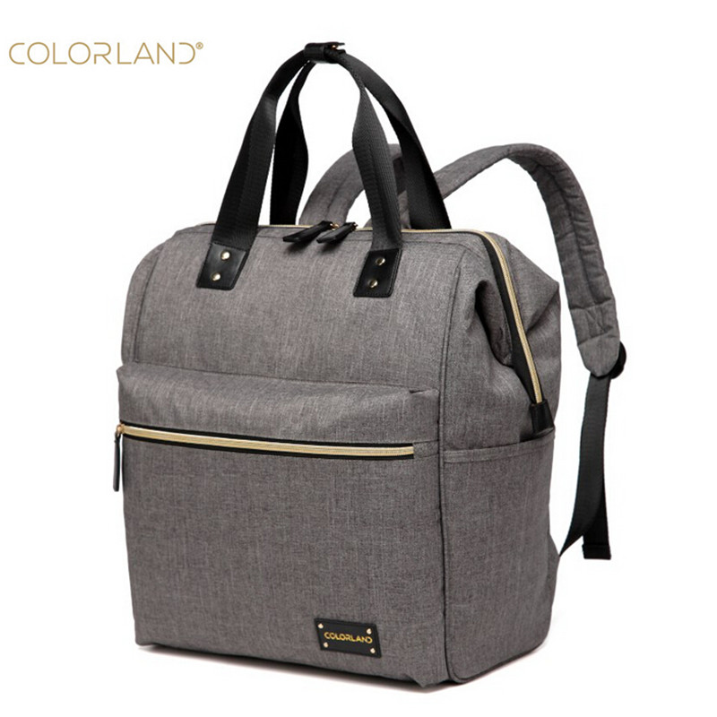 Colorland Mummy Backpack baby diaper nappy bags fashion Maternity mommy Handbag Changing Bag for babies care