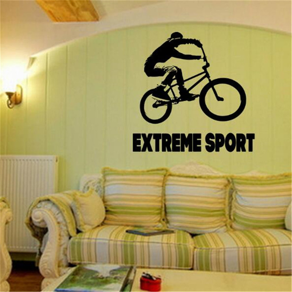 Sports Bicycle Cycling Bike Wall Sticker Home Decor Custom Art ...