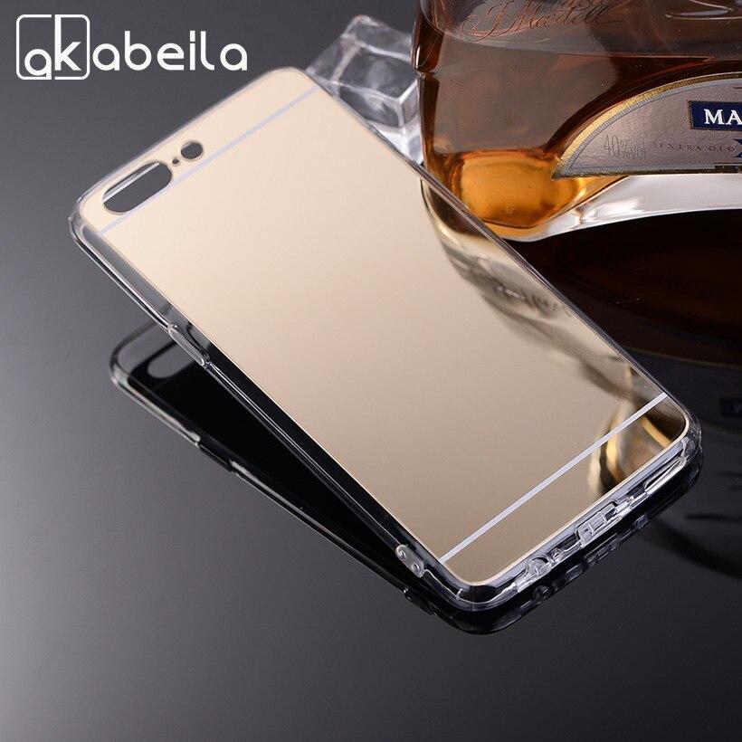 AKABEILA зеркало телефон чехол для Oneplus 5 один плюс 5 A5000 5,5 Случаи ультра тонкий ТПУ Мягкий чехлы Сумки защитная пленка Shell