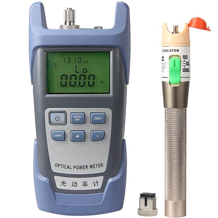 Handheld -70~+10dBm Optical Power Meter and 30mw Pen Optica Visual Fault Fiber Optic Cable TesterHandheld -70~+10dBm Optical Power Meter and 30mw Pen Optica Visual Fault Fiber Optic Cable Tester