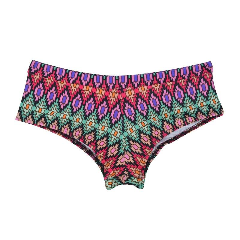 Летний женский спортивный купальный костюм, брюки, одежда для плавания, купальник с заниженной талией, сексуальные плавки для девочек с принтом, B605 - Цвет: B605K