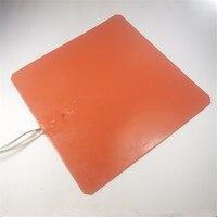 Reprap TAZ 5/TAZ 4 LulzBot TAZ 3D printer 24v Silicone Heater 360W 24V smooth silicone heater for heated bed buildplate