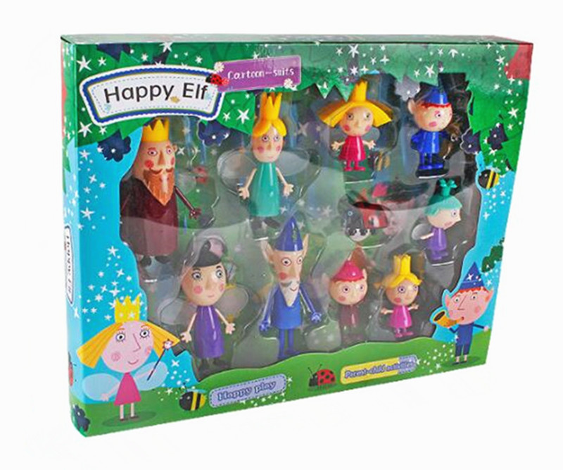 10pcs/set Ben and Holly Anime Figures toy Cartoon Characters Mini Figures Toys