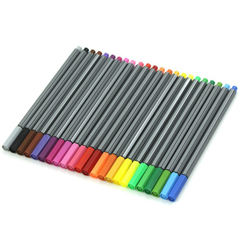 Stabilo 24 Fineliner Color Pen Set Fine Line Colored Sketch Arts Drawing Marker Pens For Bullet Graffiti Hook Fiber Pens