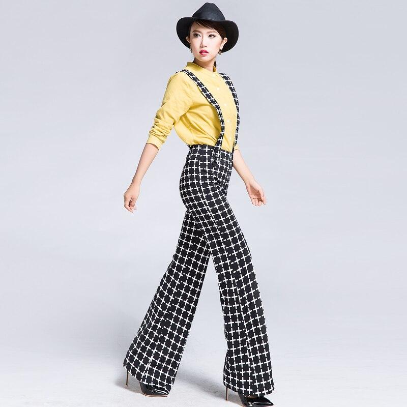 Aliexpress.com : Buy 2016 Autumn Fashion Plaid Wide Leg Pants With ...