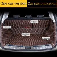 Soft PU Leather car trunk mat for Citroen C3 XR C4 C5 C6 DS5 DS6 DS7 all models car summer cool waterproof trunk mats