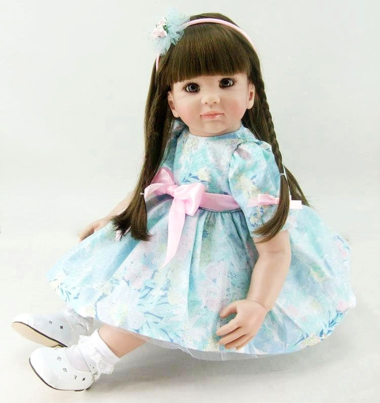 60cm Silicone Reborn Babies Doll Toy Vinyl Princess Toddler Girl Baby Doll Girl Brinquedos Fashion Birthday Gift Play House Toy