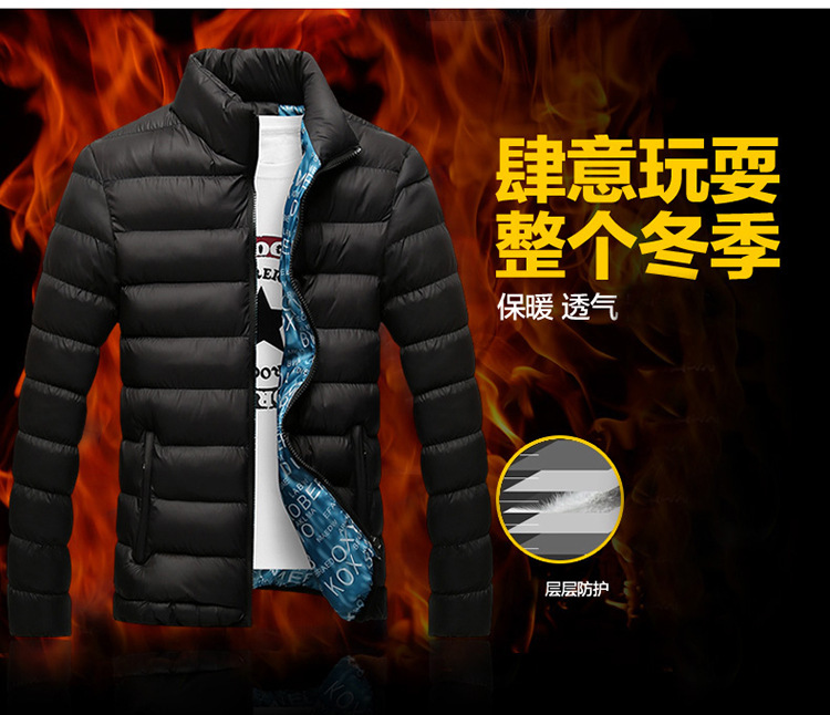 Winter Jacket Men 2019 Fashion Stand Collar Male Parka Jacket Mens Solid Thick Jackets and Coats Man Winter Parkas M-6XL 3
