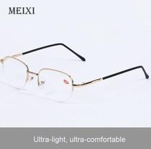 Half Metal Frame Boxed Nearsighted Glasses Resin Nearsight Woman Men Shortsighted Myopia Eyewear.-1 1.5 2 2.5 3 3.5,4 -4.5~-20