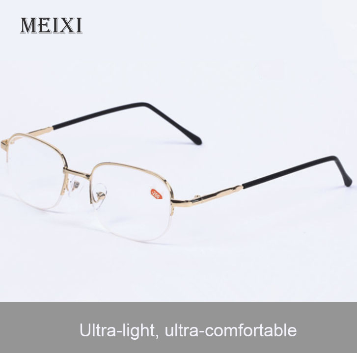 Half Metal Frame Nearsighted Óculos Resina Nearsight Mulher Homens Shortsighted Miopia Eyewear.-1 1.5 2 2.5 3 3.5,4 -4.5 ~ -20