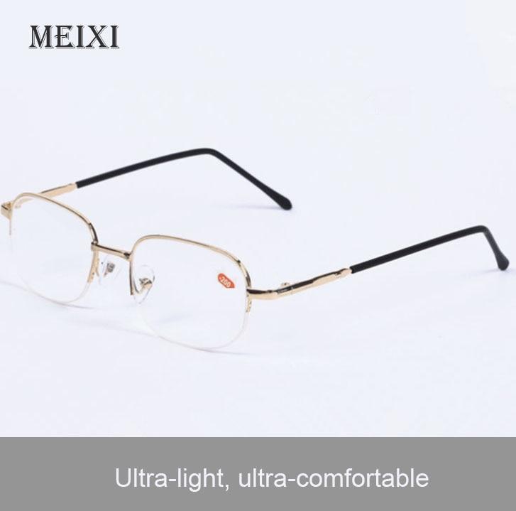 Halvmetallramme nærsynte briller Resin nærsynte kvinne menn Kortfattet myopi Eyewear.-1 1.5 2 2.5 3 3.5,4 -4.5 ~ -20