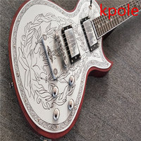 Classic Electric Guitar Kpole LP Kpole Aluminum Plate Mosaic Decorative Pattern Engraving Real Photos Sales Volume