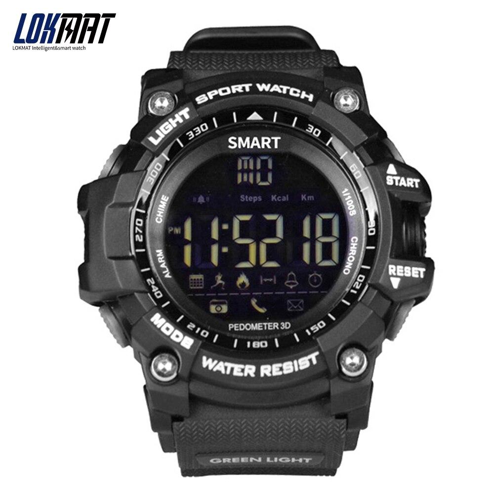 LOKMAT Bluetooth montre Smart watch Sport Podomètre étanche IP67 Sport smartwatch numérique Relogio Masculino Pour ios Android Téléphone
