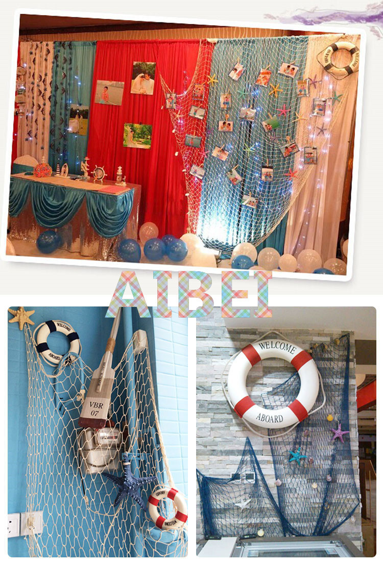 aliexpress com buy 1 2m 2 4m blue white fishing net bar 3d wall