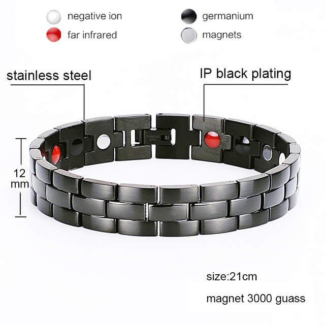 Oktrendy Men Women Healthy Magnetic Bracelet Stainless Steel Power Therapy Magnets Bangles Lovers Gift 024