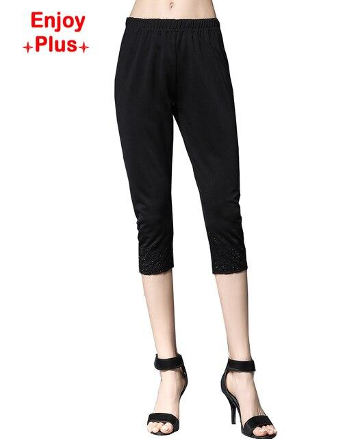 10% хип 94-110 см XL-5XL новый 2016 фитнес черный белый женские леггинсы summer большой размер стройный carpri карандаш брюки леди