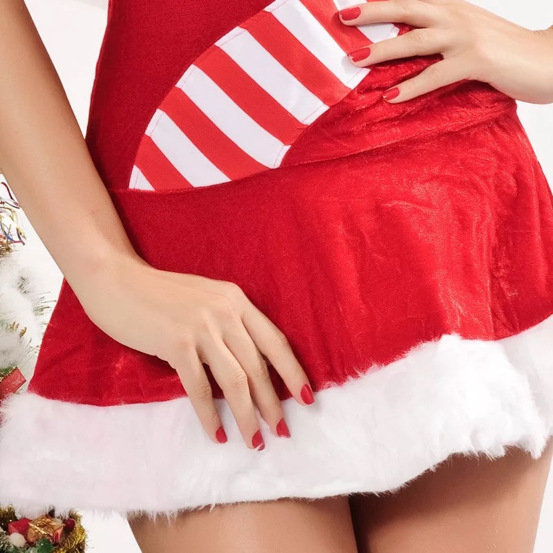 5af7b71c7e 2018 high quality Sexy Lingerie Red Velvet Christmas dress Pajamas  Underwear Kimono Outfit erotic Lingerie sets jumpsuit Costume-in Holidays  Costumes from ...