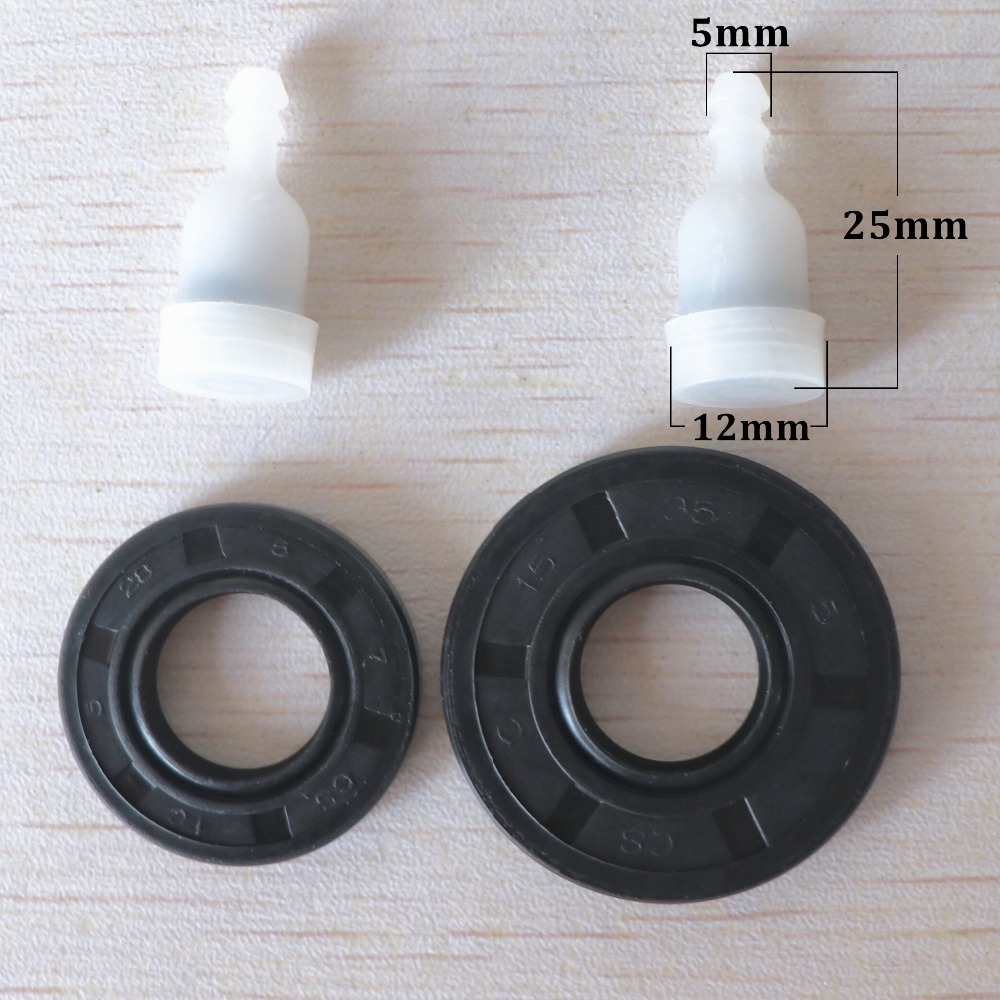 Crankcase Oil Seal Fuel Tank Vent Kit Fit Chinese Chainsaw 4500 5200 5800 45cc 52cc 58cc Gas Saws Spare Parts