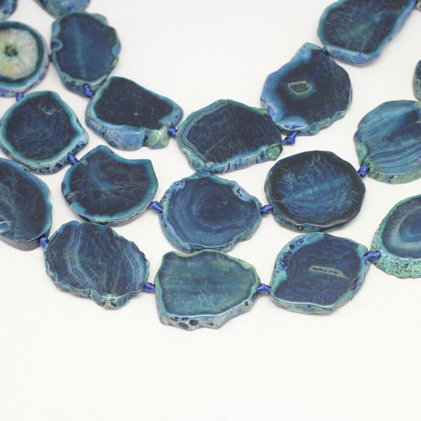 Темно-синий купля плиты ломтик шарики ювелирных изделий, гладкой Природных Дракон вен купля свободные шарики Подвески