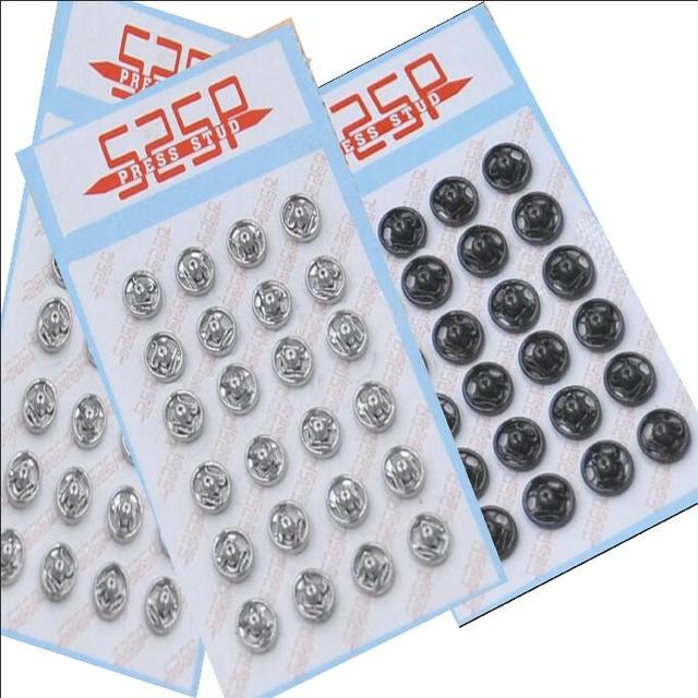 Wholesale 288sets/lot 525 small metal brass 6/7/8mm sew on press snap button fasteners stud silver nickle, gun metal
