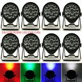 (8pcs) dmx christmas decoration led lamp 18x12W 4IN1 Led Par Light 8CHs outdoor lighting Party DJ Disco Par Sound-Active