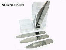 SHANH ZUN 10 Premium Collar Stays, Dress Shirt, Stainless Steel, Simply Choose the Sizes You Need