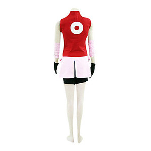 Image 3 - ことが仕立てアニメナルトコスプレ男女ハロウィンcos春野さくらコスプレ衣装トップ+スカート+パンツ+手袋