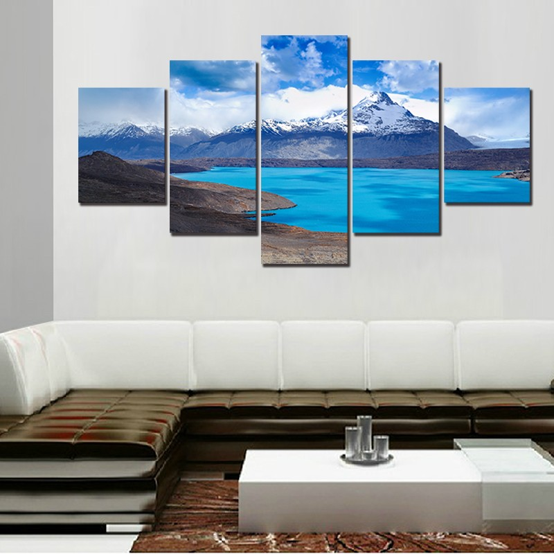 Canvas Painting Picture Frames Wall Art Home Decoration 5 Panel ...