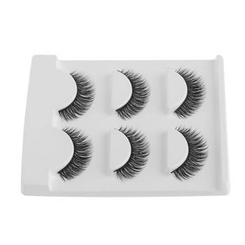 3Pairs Black Stylish Imported Synthetic 3D Soft Fiber False Eyelashes Extension Thick Long Style For Women Beauty Makeup False Eyelashes