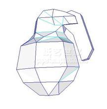 Halo Frag grenade 3D Paper Model