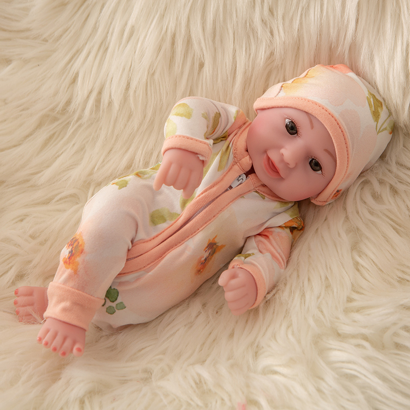 Fit 10 inch Reborn Doll Mini variety Girl Boy Full Silicone Cute Twins Dolls Lifelike Doll Reborns for Toddler Bathing Doll in Dolls from Toys Hobbies