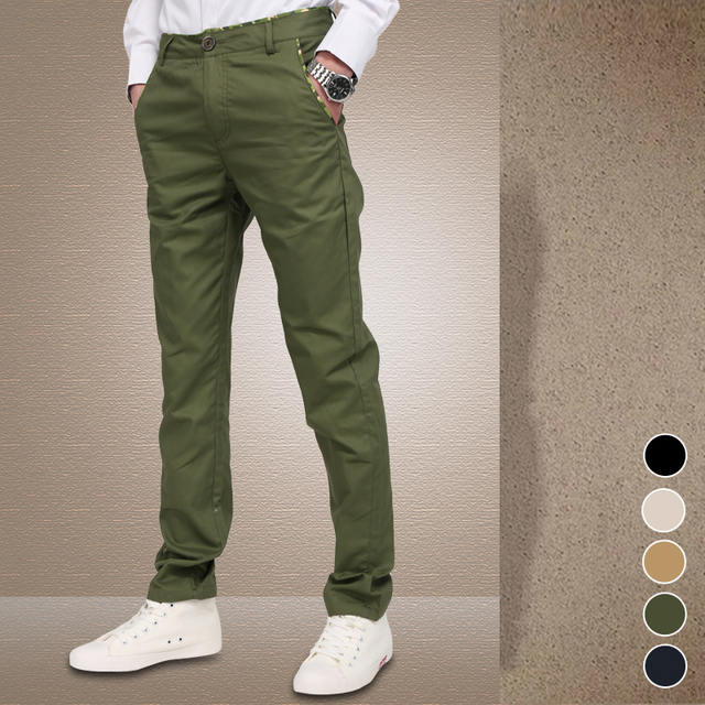 2017 Cabido Smart Cortadas Calças de Outono dos homens Novos Da Forma dos homens Casuais Calças de Algodão Premium, Caber em linha reta Calças Plus Size 28-42