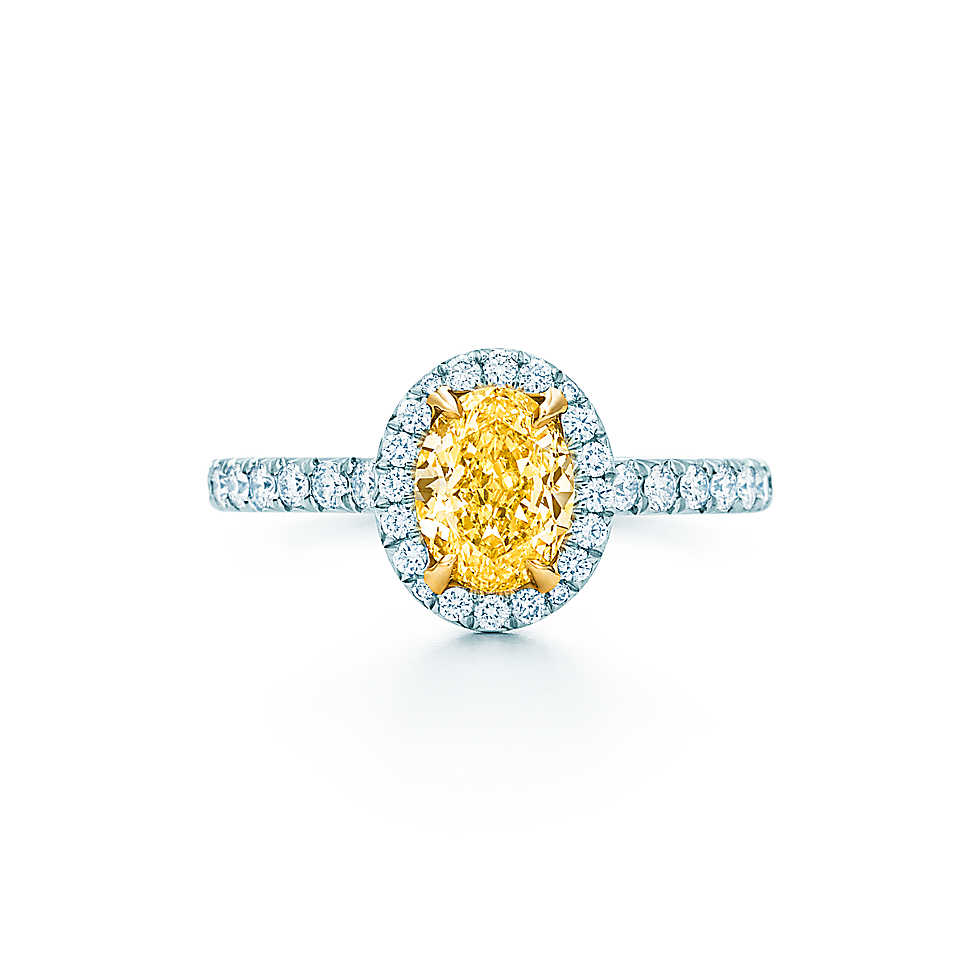 1ct 6*8 Mm Oval Cut Yellow Synthetic Diamonds Ring Solid 925 Sterling  Silver Ring White Gold Color Engagement Jewelry