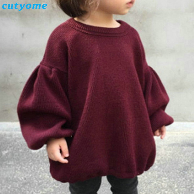 add490528c86 Children Baby Girls Sweaters Winter Girl Long Sleeve Knitted ...