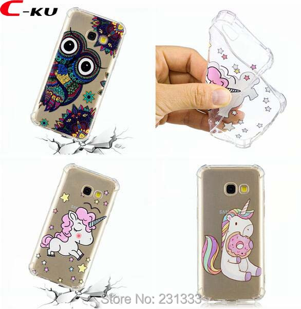 C-ku Shockproof 3D Cartoon OWL Soft TPU Case For Samsung Galaxy A3 A5 2017 J3 J5 J7 A310 A510 J2 PRO 2018 J310 Skin Cover 100pcs