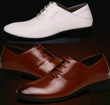 Fashion High Quality 3 Color's Men's Wedding Groom Shoes Mens Shiny Leather Shoes Unique Men Casual Shoes Breathable