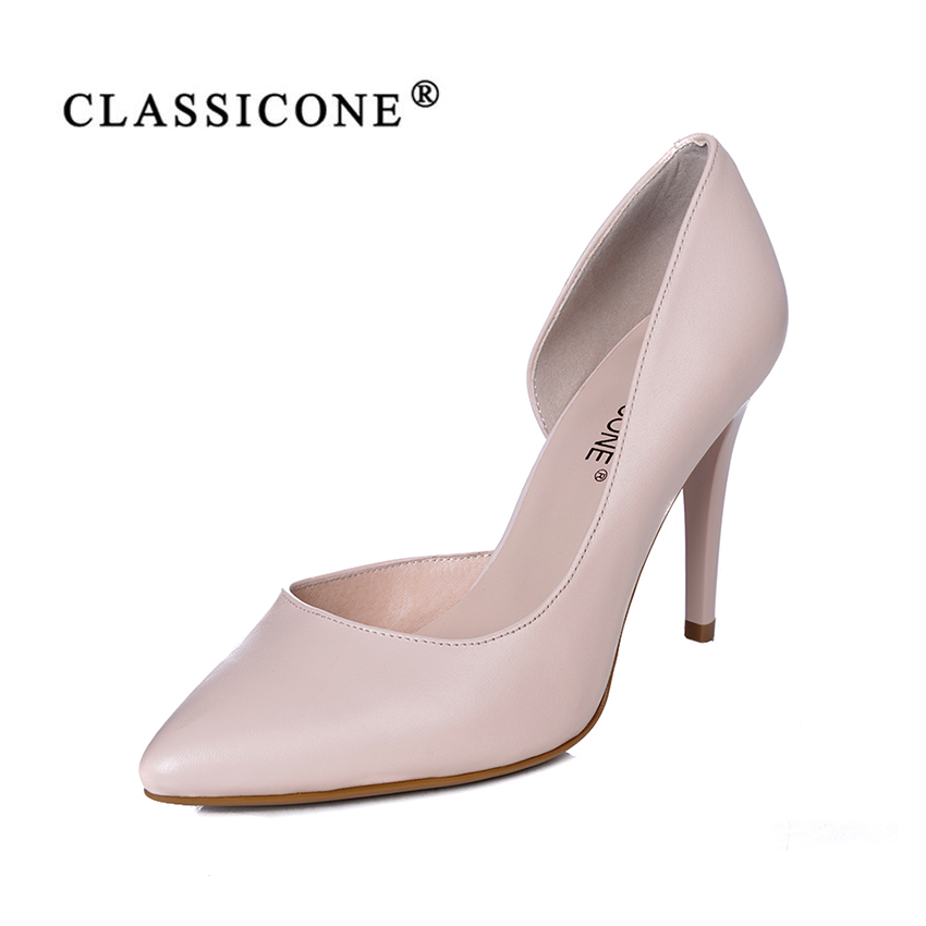 women shoes woman scoop spring autumn summer high heel pumps genuine leather fashion brand style sexy luxury designersCLASSICONE