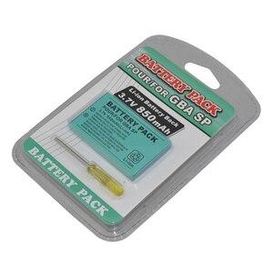 Image 3 - 100 adet çok Şarj Edilebilir 3.7 V 850 mAh Li ion Güç Paketi Aracı Paketi Kiti Gameboy Advance SP için Pil paketi G B A SP