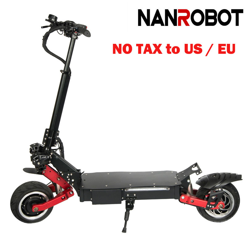 NANROBOT RS7 11'' <font><b>3200W</b></font> High Speed Portable Folding 60V 31.2A, 55MPH and 55 Miles 2 Wheel kick e Adult Electric <font><b>Scooter</b></font> image